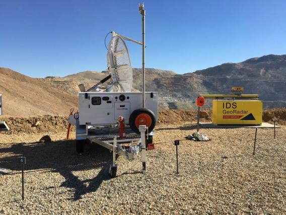 Georadar in the field