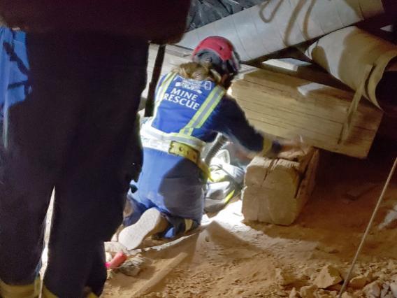 Mine rescue training