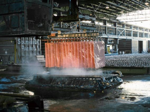 production of copper cathodes