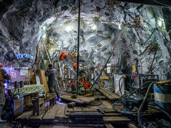 Mine Engineer working Underground
