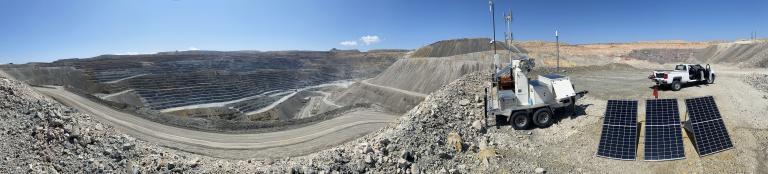 Mine site with ArcSar setup