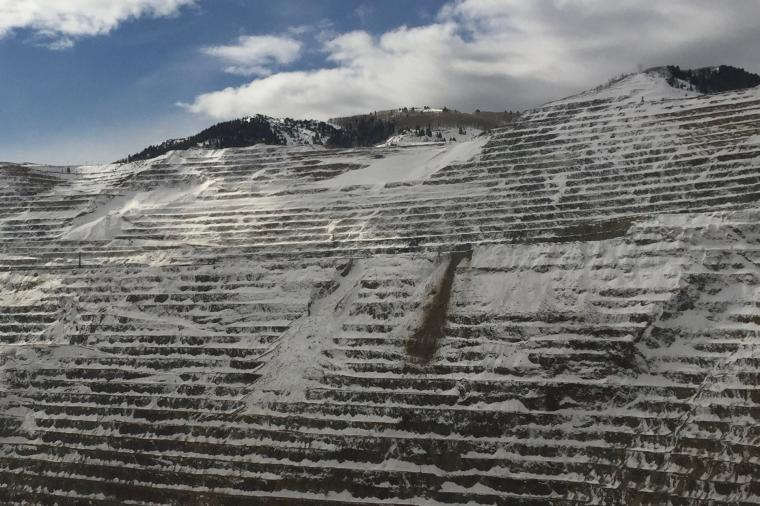 rockfall snow