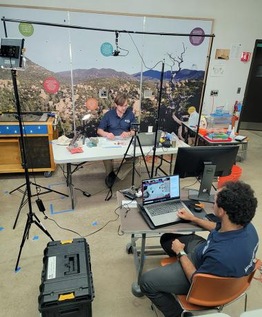 In the studio during the Summer Engineering Academy 2021