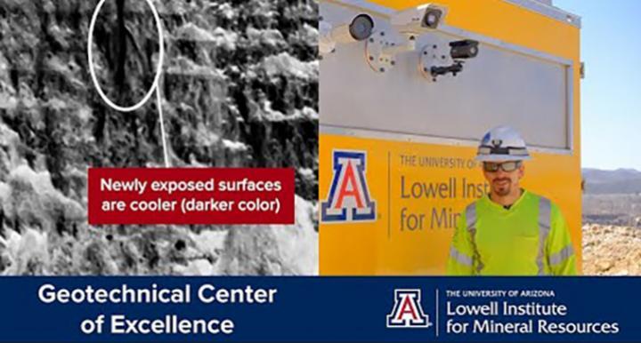 screenshot of thermal imaging video