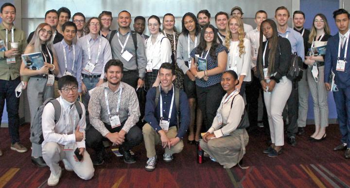 A group of UArizona mining engineering students at MINExpo 2021 in Las Vegas